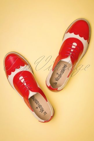 60s Mika Oxford Shoes in Red and Cream