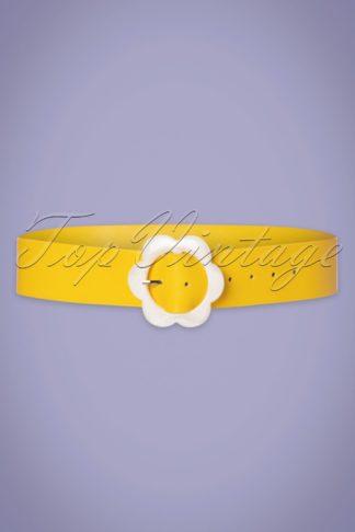 60s Nicola Belt in Yellow