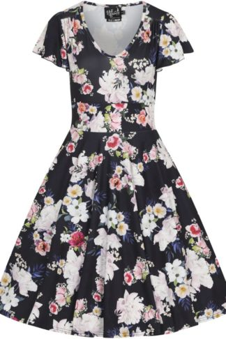 Hell Bunny Tussy Mussy Dress Mittellanges Kleid navy