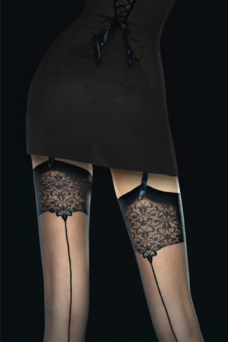 Vesper Seamed Stockings in Black