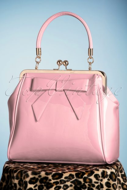 50s American Vintage Patent Bag in Pink
