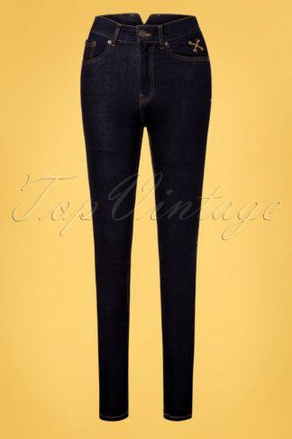 50s Betty Skinny Jeans in Dark Blue