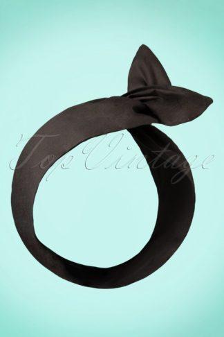 50s Hair Scarf in Black