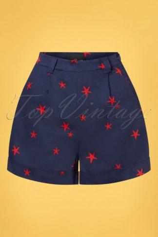 50s Jojo Starfish Shorts in Navy