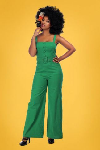 50s Olympia Jumpsuit in Green