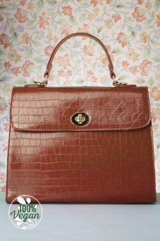 50s Versailles Handbag in Walnut