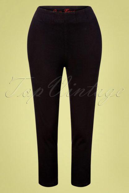 50s Vintage Capri Pants in Black