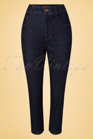 50s Wanda Capri Jeans in Classic Blue