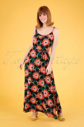 60s Allison Arancino Maxi Dress in Black