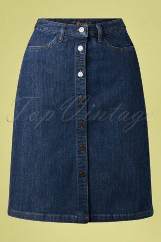 60s Angie Denim Skirt in Blue