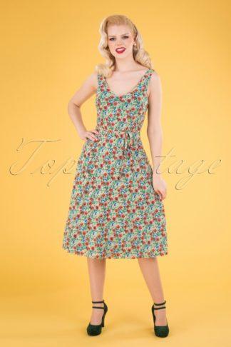 60s Anna Sweetpea Dress in Spar Green