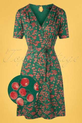 60s Cecil Touche Dress in Para Green
