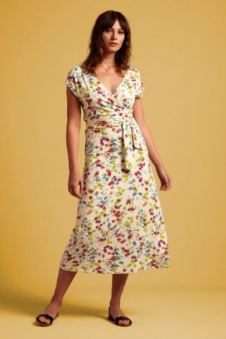 60s Lot Origami Midi Dress in Pearly Dew