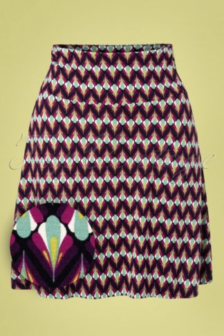60s Namaste Border Skirt in Vivid Purple