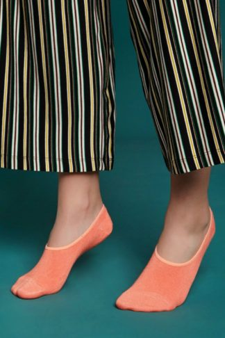 60s Sassy Footies in Papaya Pink