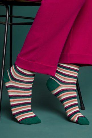 60s Savannah Socks in Granny Pink