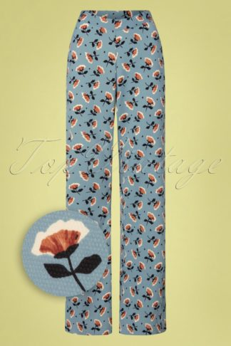 70s Carnation Trousers in Blue