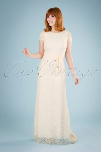 70s Sally Dentelle Wedding Dress in Petal Pink