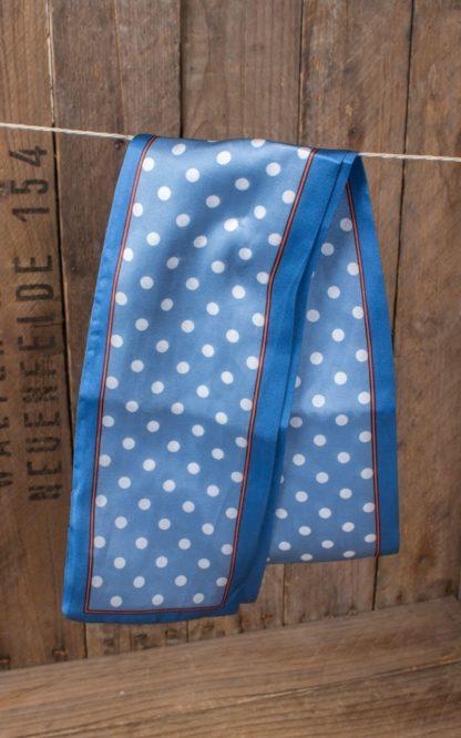 Banned Halstuch / Haarband Lucky Charm Polkadot, blau von Rockabilly Rules