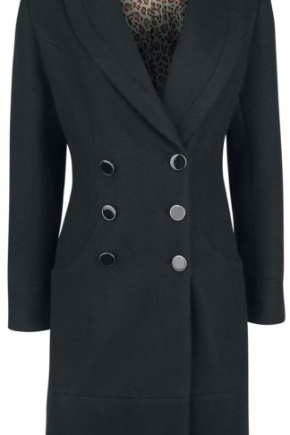 Banned Retro Rocking Coat Mantel schwarz