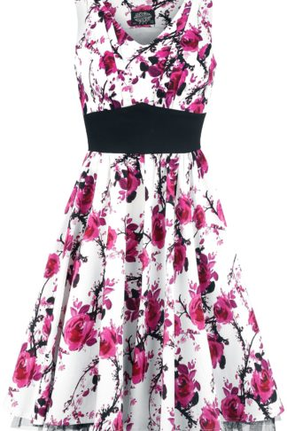 H&R London Pink Floral Dress Mittellanges Kleid weiß/pink