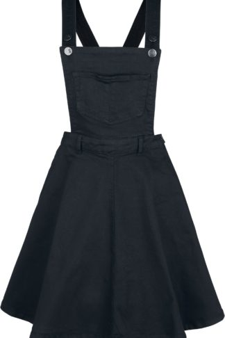 Hell Bunny Dakota Pinafore Dress Mittellanges Kleid schwarz
