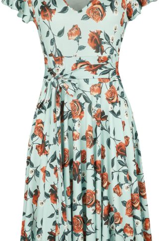 Hell Bunny Romance Dress Mittellanges Kleid hellblau