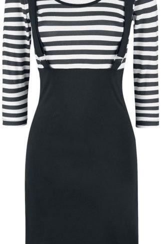 Rockabella Compass Dress Mittellanges Kleid schwarz/weiß
