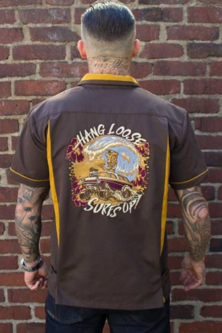 Rumble59 - Bowling Shirt - Hang loose, Surf's up von Rockabilly Rules