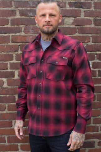 Rumble59 - Shadow Plaid Shirt   Karohemd, rot/schwarz von Rockabilly Rules