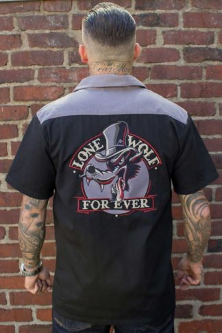 Rumble59 - Worker Shirt - Lone wolf forever von Rockabilly Rules
