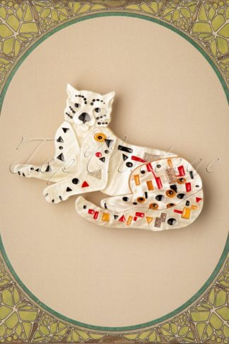 TopVintage exclusive ~ Klimt The Cat Brooch
