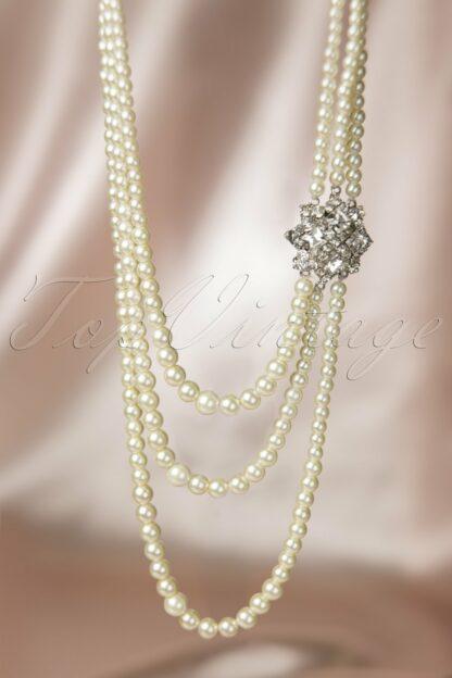 20s Paris Pearls Crystal Necklace