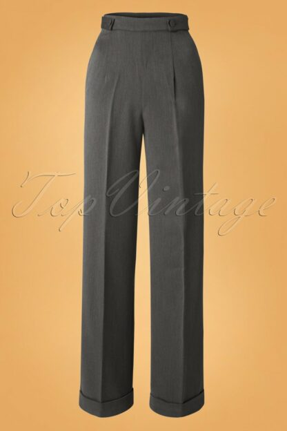 40s Party On Classy Trousers in Charcoal