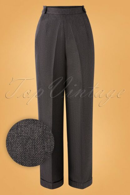 40s Work It Out Trousers in Grey