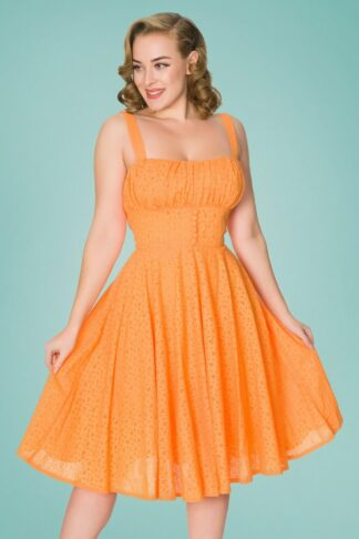 50s Bianca Swing Dress in Orange