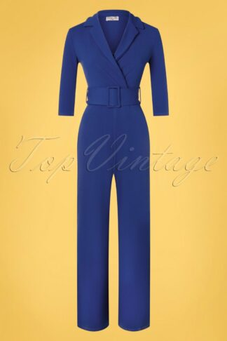 50s Denysa Jumpsuit in Royal Blue