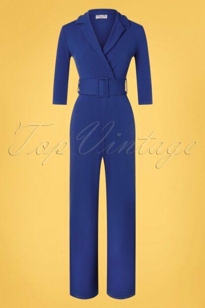 50s Denysa Jumpsuit in Royal Blue