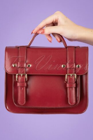 50s Galatee Messenger Bag in Burgundy
