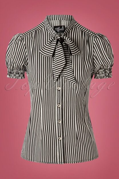 50s Humbug Blouse in Black and White