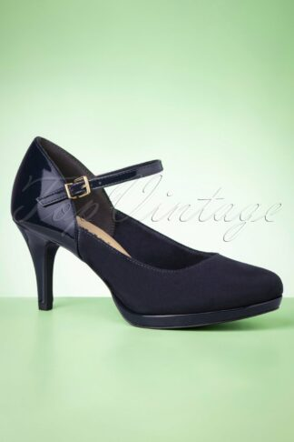 50s Jasmin Mary Jane Pumps in Navy