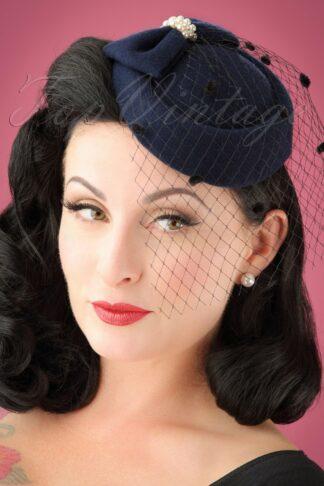 50s Judy Hat in Navy