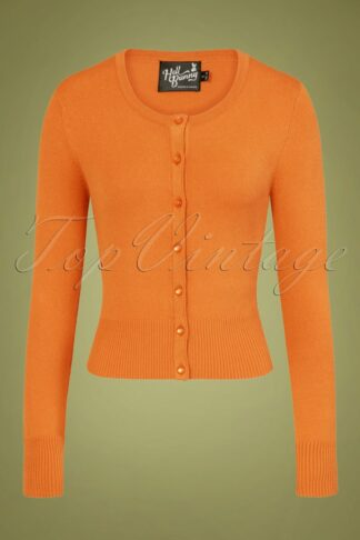 50s Paloma Cardigan in Orange