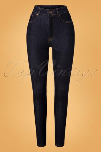 50s Second Skin Skinny Jeans in Denim Blue