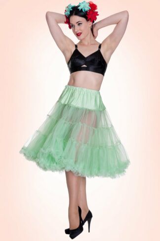 50s retro Petticoat chiffon Mint Green