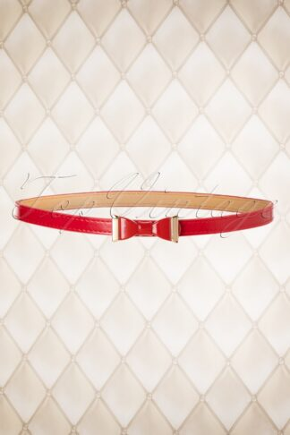 60s Summer Love Bow Belt in Red