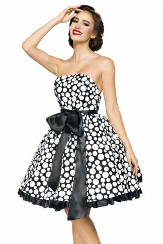 Belsira Vintage-Bandeau-Kleid Kurzes Kleid schwarz/weiß