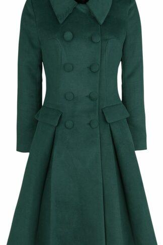 H&R London Evelyn Swing Coat Mantel grün
