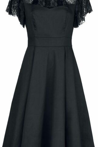 H&R London Kala Dress Mittellanges Kleid schwarz