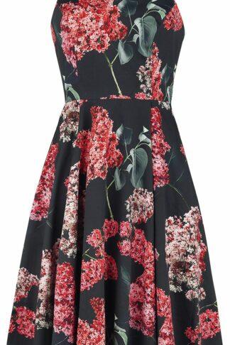 H&R London Maldiel Dress Mittellanges Kleid schwarz/rot